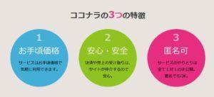 ココナラ3つの特徴